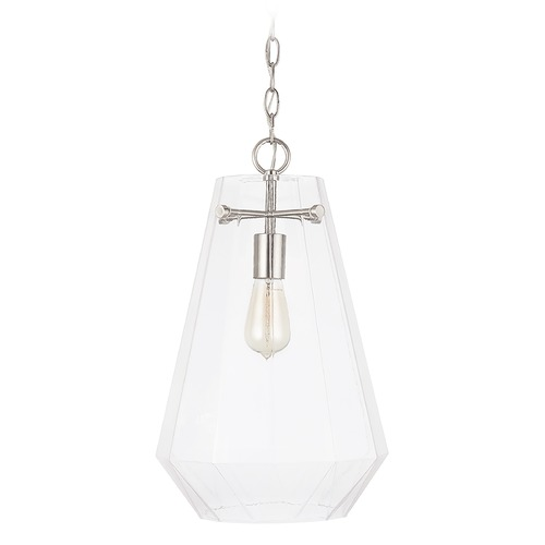 Capital Lighting Capital Lighting Independent 1-Light Brushed Nickel Pendant Light 338316BN