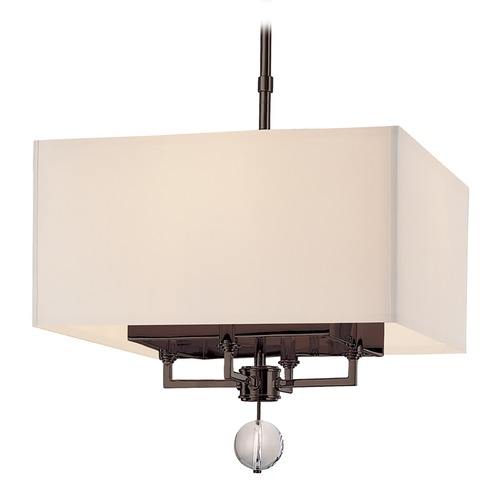 Hudson Valley Lighting Modern Pendant Light with White Shades in Old Bronze Finish 5644-OB