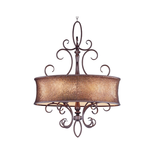 Maxim Lighting Drum Pendant Light in Umber Bronze Finish 24165SBUB