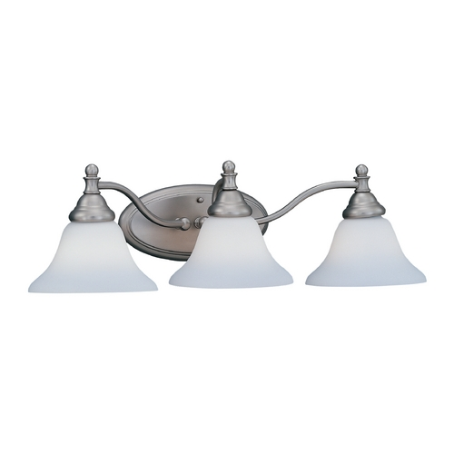 Designers Fountain Lighting Bathroom Light with White Glass in Pewter Finish 4773-PW