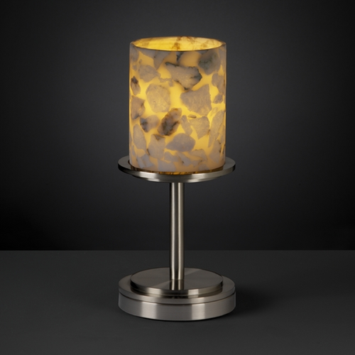 Justice Design Group Justice Design Group Alabaster Rocks! Collection Table Lamp ALR-8798-10-NCKL