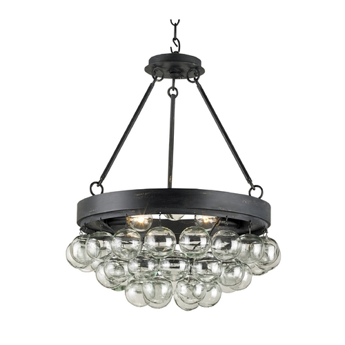 Currey and Company Lighting Modern Pendant Light in French Black Finish 9887