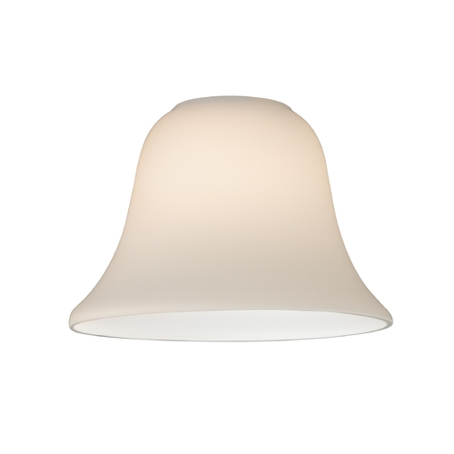 Design Classics Lighting Bell Glass Shade in Satin White - Lipless with 1-5/8-Inch Fitter GL1032-WH