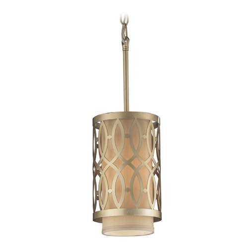 Elk Lighting Elk Lighting Estonia Aged Silver Mini-Pendant Light with Cylindrical Shade 31123/1-LA