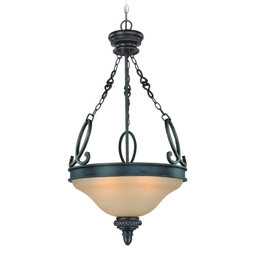 Craftmade Lighting Craftmade Highland Place Mocha Bronze Pendant Light with Bowl / Dome Shade 25223-MB