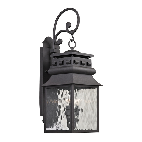 Elk Lighting Outdoor Wall Light with Clear Glass in Charcoal Finish 47063/2