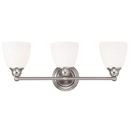 Livex Lighting Livex Lighting Somerville Brushed Nickel Bathroom Light 13663-91