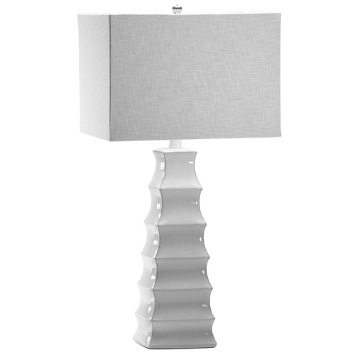 Cyan Design Cyan Design Emily White Table Lamp with Rectangle Shade 01721