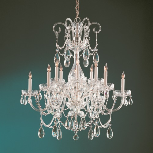Crystorama Lighting Crystorama Lighting Traditional Crystal Polished Brass Chandelier 1035-PB-CL-SAQ