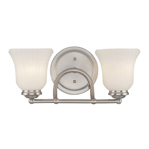 Savoy House Savoy House Lighting Mercer Satin Nickel Bathroom Light 8-470-2-SN