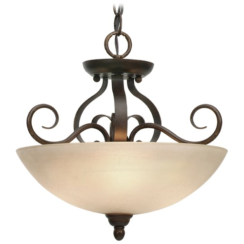 Golden Lighting Golden Lighting Riverton Peppercorn Pendant Light 1567-SF PC