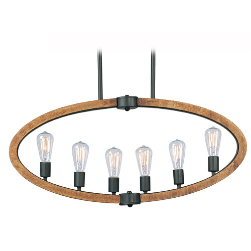 Maxim Lighting Maxim Lighting Bodega Bay Anthracite Island Light 20913APAR/BUI