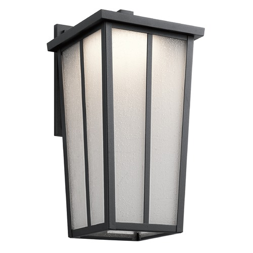 Kichler Lighting Kichler Lighting Amber Valley Textured Black LED Outdoor Wall Light 49624BKTLED