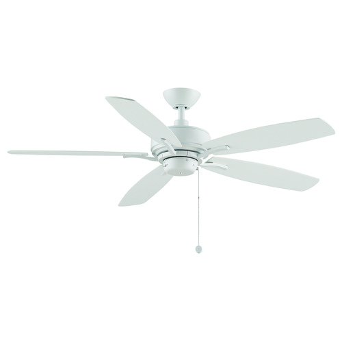 Fanimation Fans Fanimation Fans Aire Delux Matte White Ceiling Fan Without Light FP6284MW