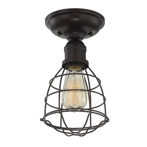 Savoy House Industrial Semi-Flushmount Light Bronze Scout by Savoy House 6-4135-1-13
