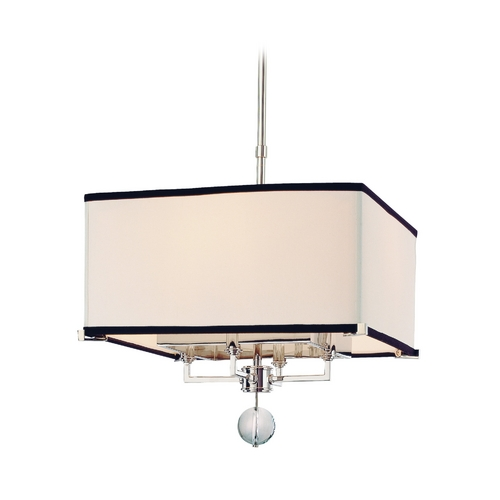 Hudson Valley Lighting Modern Pendant Light with White Shades in Polished Nickel Finish 5644-PN