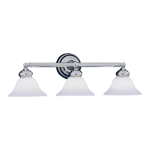 Designers Fountain Lighting Bathroom Light with White Glass in Chrome Finish 4963-CH