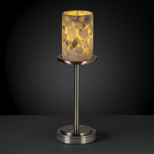 Justice Design Group Justice Design Group Alabaster Rocks! Collection Table Lamp ALR-8799-10-NCKL