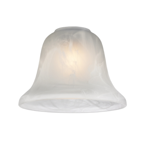 Design Classics Lighting Alabaster Glass Bell Shade - 1-5/8-Inch Fitter Opening GL1032-ALB