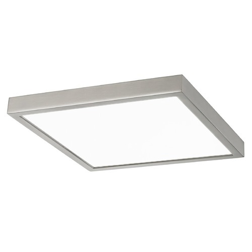 Design Classics Lighting Flat LED Light Surface Mount 10-Inch Square Satin Nickel 3000K 1495LM 10309-SN SQ T16