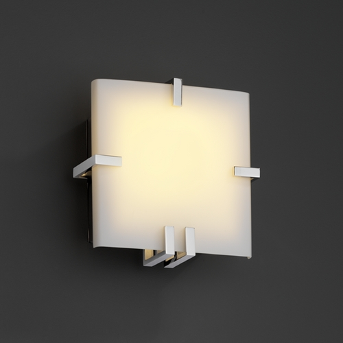 Justice Design Group Justice Design Group Fusion Collection Sconce FSN-5550-OPAL-CROM