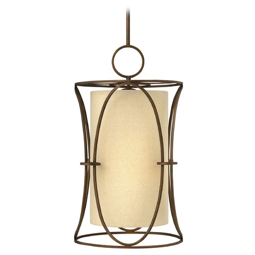 Fredrick Ramond Frederick Ramond Pandora Brushed Cinnamon Pendant Light with Cylindrical Shade FR42404BRC