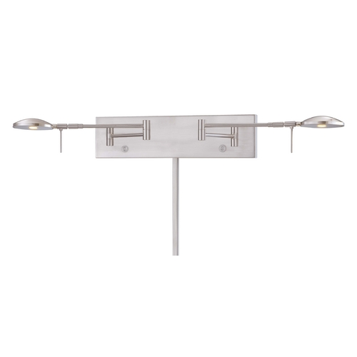 George Kovacs Lighting Modern LED Swing Arm Lamp in Brushed Nickel Finish P4339-084