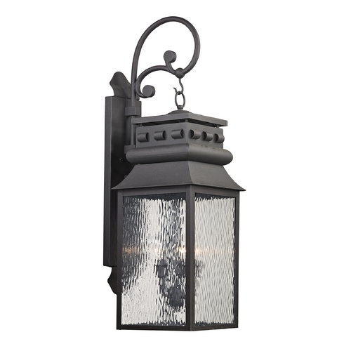 Elk Lighting Outdoor Wall Light with Clear Glass in Charcoal Finish 47064/3
