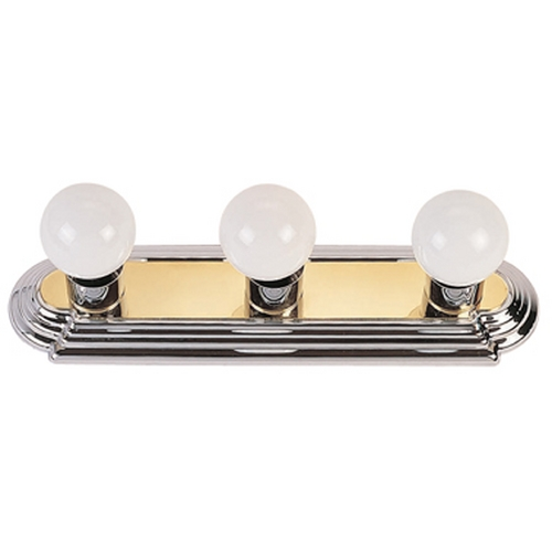 Livex Lighting Livex Lighting Chrome and Polished Brass Bathroom Light 1143-52
