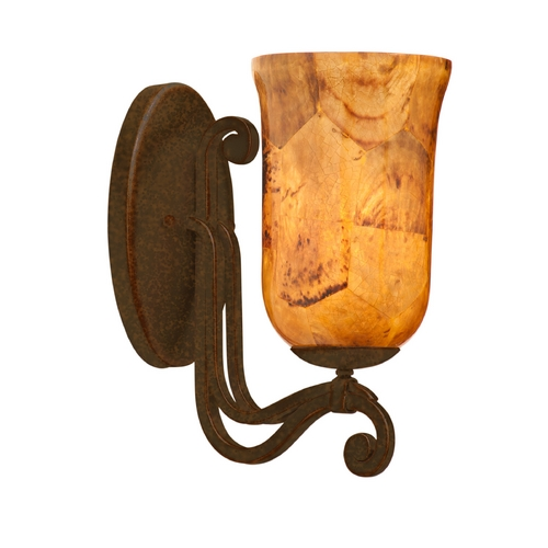 Kalco Lighting Kalco Lighting Somerset Tortoise Shell Sconce 4961TO/PENSH