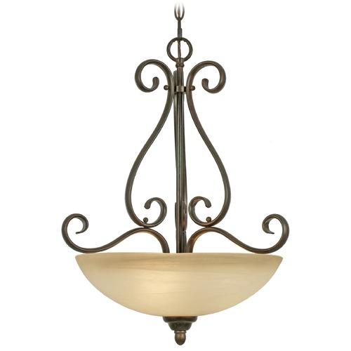 Golden Lighting Golden Lighting Riverton Peppercorn Pendant Light 1567-3P PC