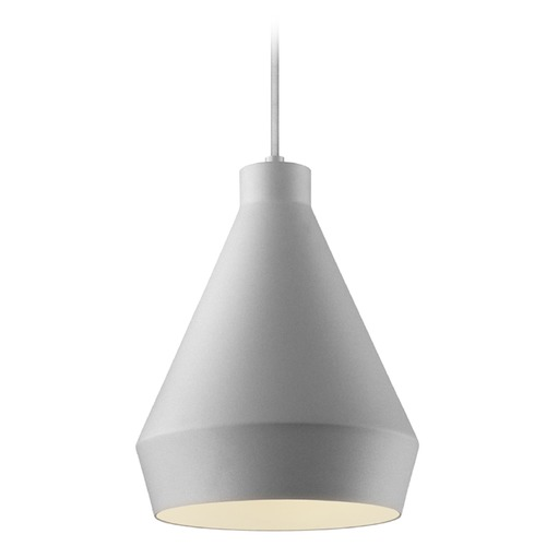 Sonneman Lighting Farmhouse Mini-Pendant Light Satin Aluminum Koma by Sonneman Lighting 2750.16-E