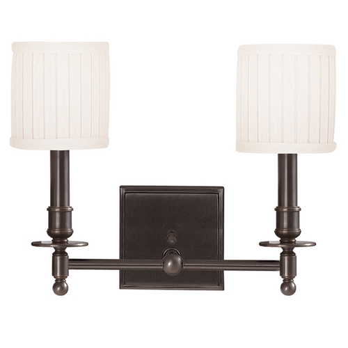 Hudson Valley Lighting Sconce Wall Light with White Shades in Old Bronze Finish 302-OB