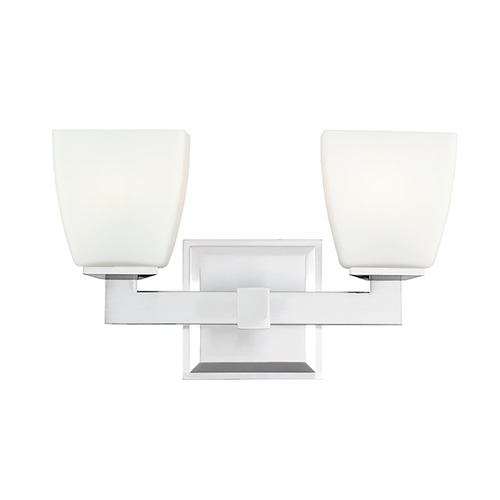 Hudson Valley Lighting Modern Bathroom Light with White Glass in Polished Chrome Finish 6202-PC