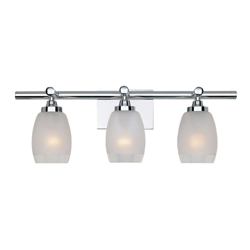 Designers Fountain Lighting Bathroom Light with White Glass in Chrome Finish 6453-CH