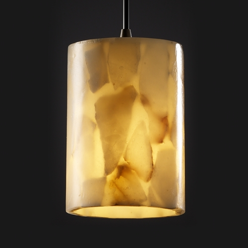 Justice Design Group Justice Design Group Alabaster Rocks! Collection Mini-Pendant Light ALR-8815-10-DBRZ