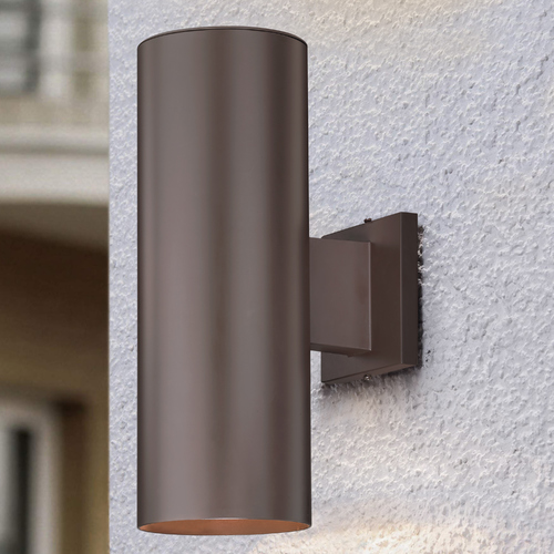 Design Classics Lighting Up / Down Bronze Cylinder Outdoor Wall Light 5052 PCB