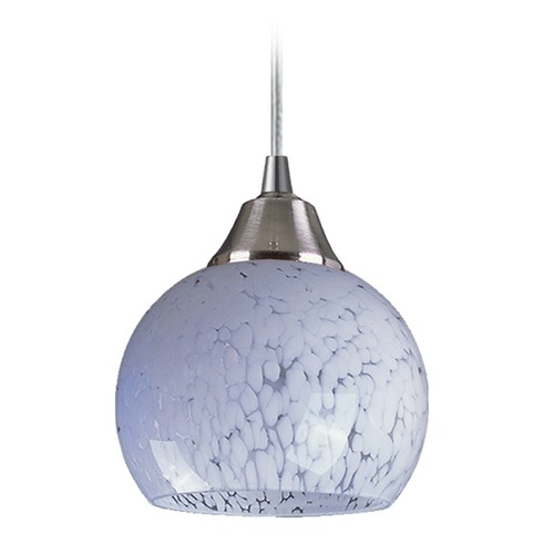 Elk Lighting Elk Lighting Mela Satin Nickel Mini-Pendant Light with Bowl / Dome Shade 101-1SW-LA