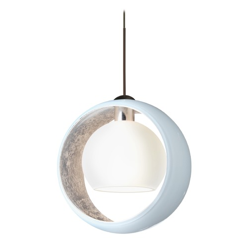 Besa Lighting Besa Lighting Pogo Bronze LED Pendant Light with Globe Shade 1XT-4293SF-LED-BR