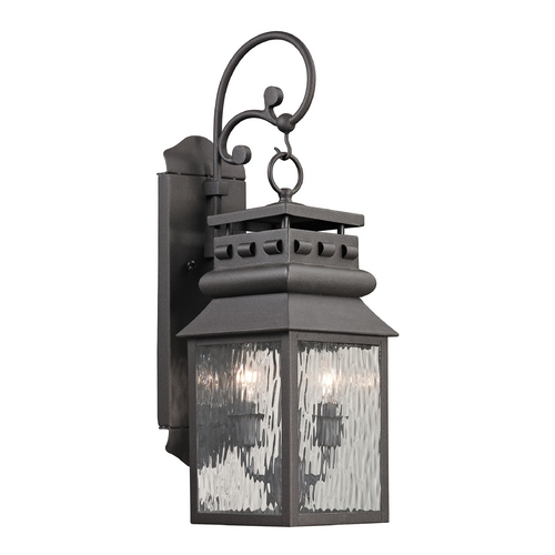 Elk Lighting Outdoor Wall Light with Clear Glass in Charcoal Finish 47065/2