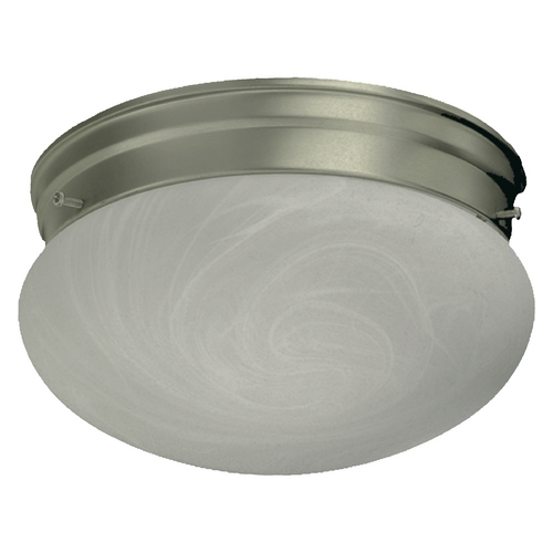 Quorum Lighting Quorum Lighting Satin Nickel Flushmount Light 3021-8-65