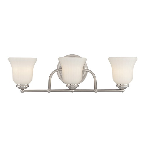 Savoy House Savoy House Lighting Mercer Satin Nickel Bathroom Light 8-470-3-SN