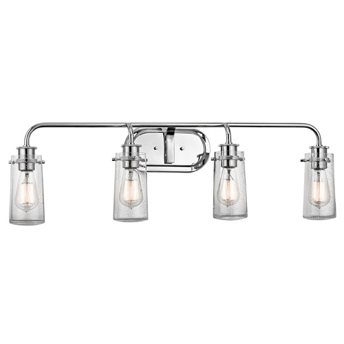 Kichler Lighting Seeded Glass Bathroom Light Chrome Kichler Lighting 45460CH