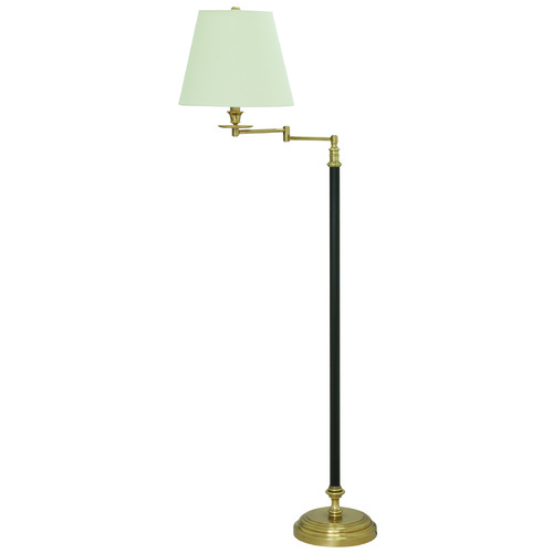 House of Troy Lighting House Of Troy Bennington Black / Weathered Brass Swing Arm Lamp with Empire Shade B501-BWB