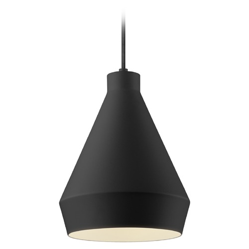 Sonneman Lighting Sonneman Koma Satin Black Mini-Pendant Light with Conical Shade 2750.25-E