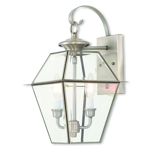 Livex Lighting Livex Lighting Westover Brushed Nickel Outdoor Wall Light 2281-91