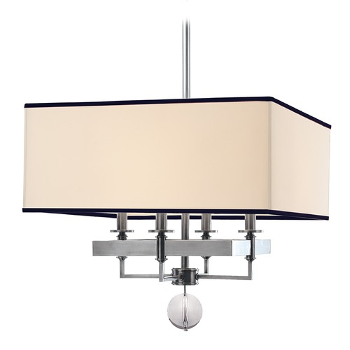 Hudson Valley Lighting Modern Pendant Light with White Shades in Polished Nickel Finish 5645-PN