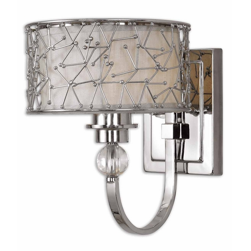Uttermost Lighting Modern Sconce Wall Light in Nickel Finish 22484