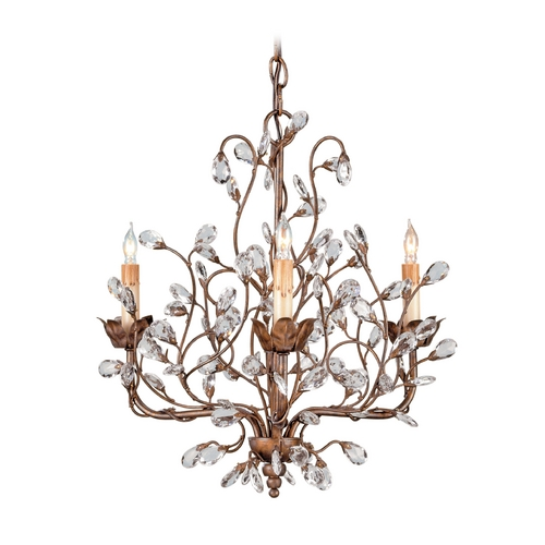Currey and Company Lighting Mini-Chandelier in Cupertino Finish 9883