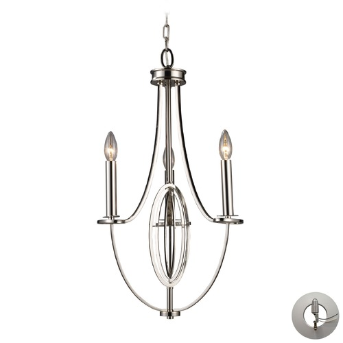 Elk Lighting Elk Lighting Dione Polished Nickel Mini-Chandelier 10120/3-LA